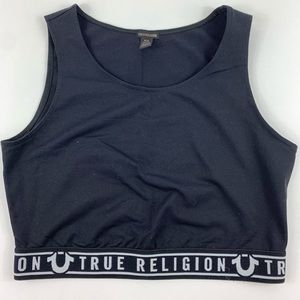 True Religion Sports Bra Size M Black
